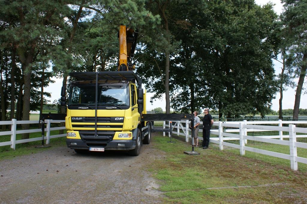 Het opstellen van de vrachtwagen