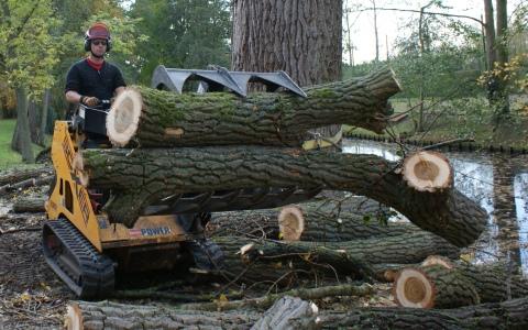 Verhuur machines voor de bosbouw